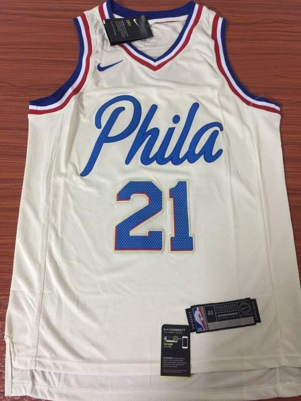 a4ec2b116f6 ... norway men 21 joel embiid jersey white city edition philadelphia 76ers  jersey fafc3 618fd