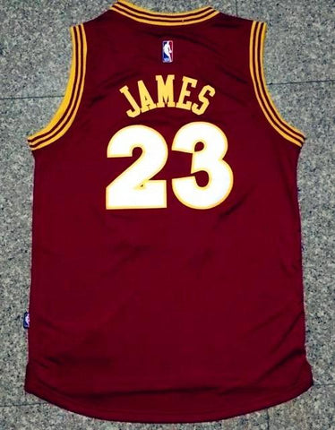 81c9128146f Men CAVS 23 Lebron James Jersey Red Cleveland Cavaliers Jersey Swingman