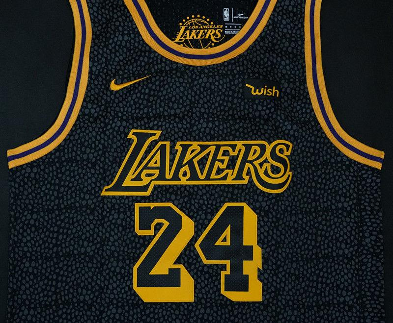 best website 0973d 6bb71 Men 24 Kobe Bryant Jersey City Edition Black Los Angeles Lakers Jersey  Player