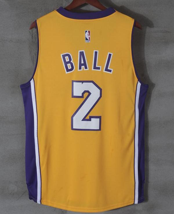 ... Men 2 Lonzo Ball Swingman Jersey Yellow Los Angeles Lakers Jersey  Swingman ... 2073a314d