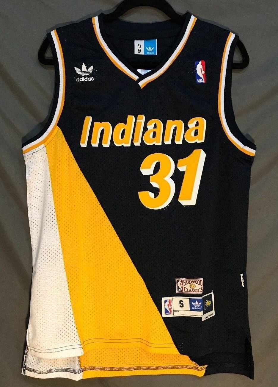 Men 31 Reggie Miller Jersey Indiana Pacers Jersey Throwback Swingman ... 9105fcb3cb13