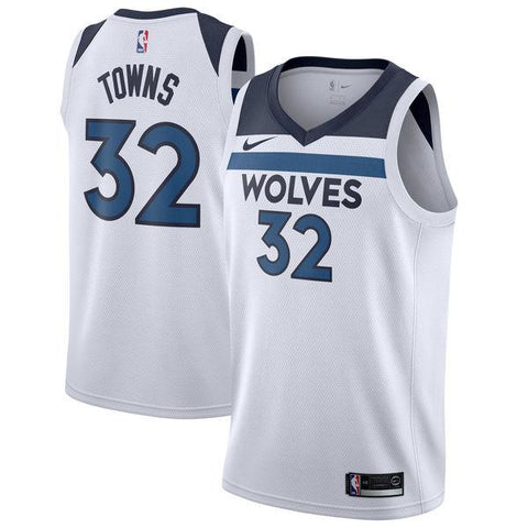 14ca77a98 Men 32 Karl Anthony Towns Jersey White Minnesota Timberwolves Fans