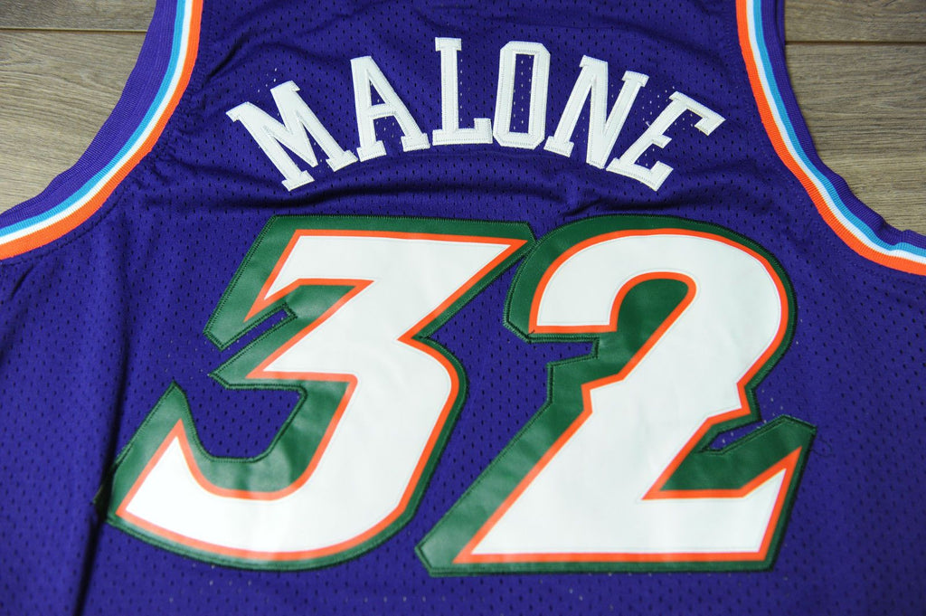 huge discount 6cfd8 3c28f Men 32 Karl Malone Jersey Purple Utah Jazz Jersey Throwback ...