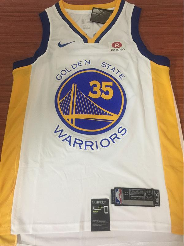big sale 9876e 6d777 Men GSW 35 Kevin Durant Jersey White Golden State Warriors Fanatics
