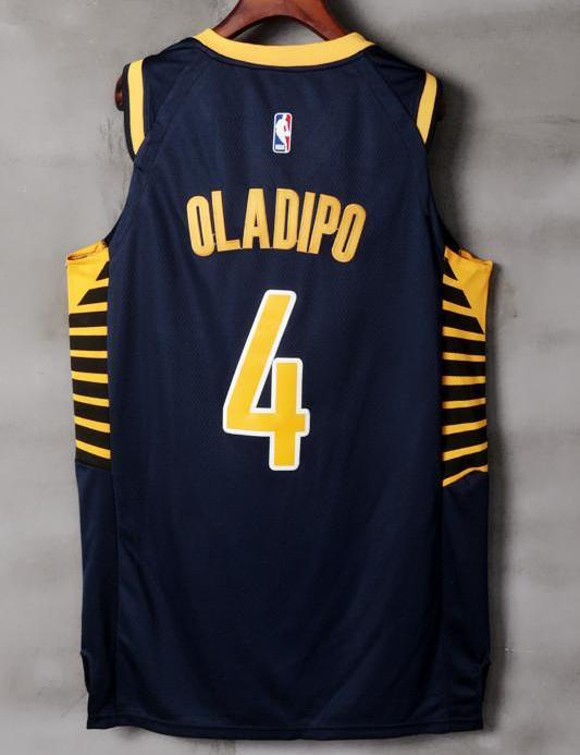 Men 4 VICTOR OLADIPO Jersey Black Indiana Pacers Jersey Player – nRevo be3c93299