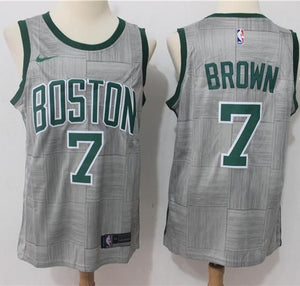 a94e14f21 Men 7 Jaylen Brown Jersey Gray City Edition Boston Celtics Jersey Fanatics