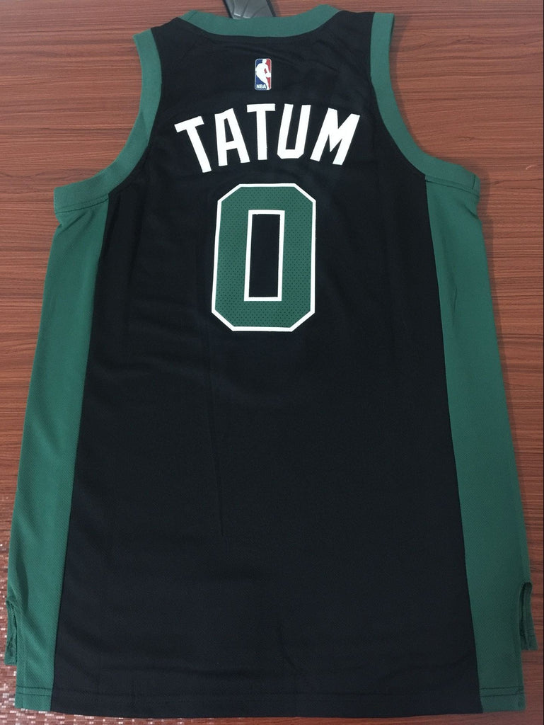 best authentic e7f10 d81c4 Men 0 Jayson Tatum Celtics Jersey Black Boston Celtics Swingman Jersey