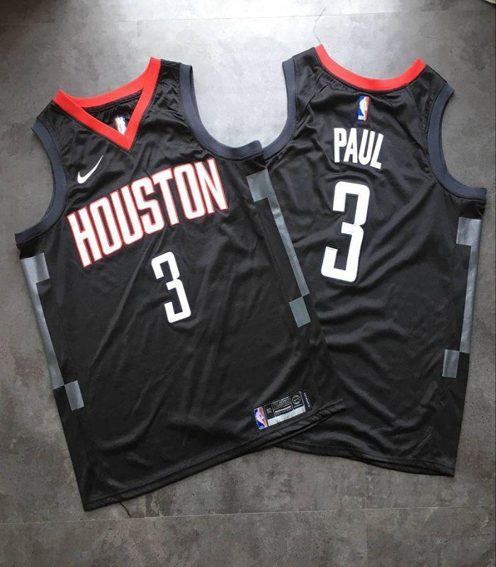 ... Men 13 Chris Paul Jersey Black Houston Rockets Jersey Swingman Fanatics  ... cf19bb69c