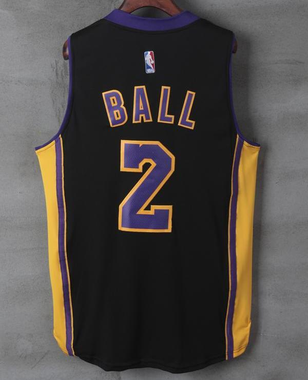 ... Men 2 Lonzo Ball Swingman Jersey Black Los Angeles Lakers Jersey  Swingman ... e5c9f710f