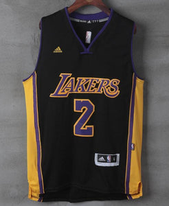 Men 2 Lonzo Ball Swingman Jersey Black Los Angeles Lakers Jersey Swingman b2f5bf275
