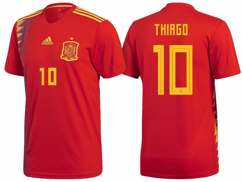 3d821a2bc Men  10 Thiago Jersey Home Spain National 2018 FIFA World Cup – nRevo