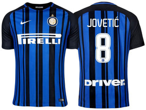 4cd86e7b538 Men 8 Stevan Jovetic Jersey Home Soccer Inter Milan FC Jersey 2018 Serie A