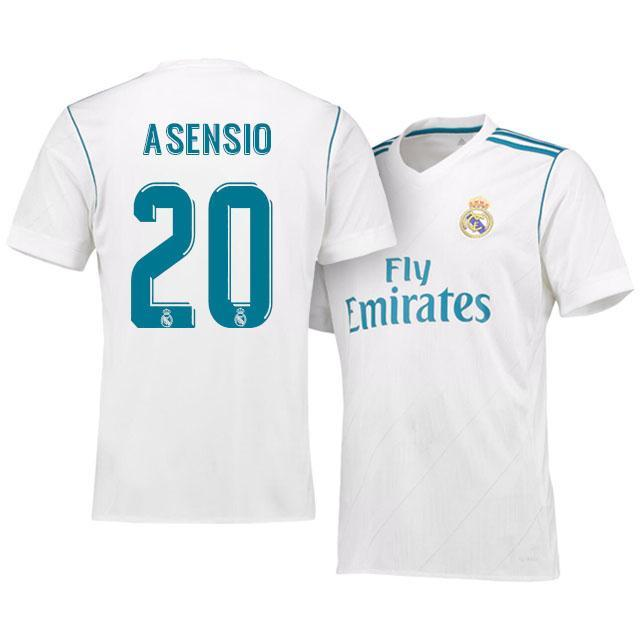 hot sale online 86809 e3375 Men 20 Marco Asensio Jersey Soccer Real Madrid Jersey 2018 LaLiga