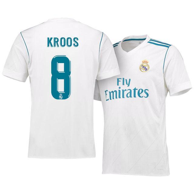 quality design 5b967 a2691 Men 8 Toni Kroos Jersey Soccer Real Madrid Jersey 2018 LaLiga