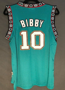 Men 10 Mike Bibby Jersey Green Vancouver Grizzlies Throwback Swingman ce36710ac