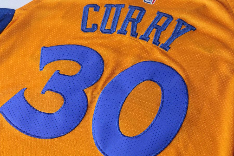 063b517b6 ... Men 30 Stephen Curry the Bay Jersey Yellow Golden State Warriors Player  ...