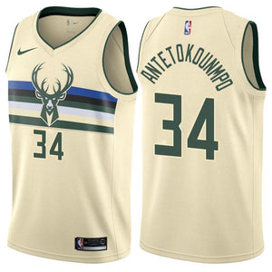234417c67 Men 34 Giannis Antetokounmpo City Jersey White Milwaukee Bucks Fanatics
