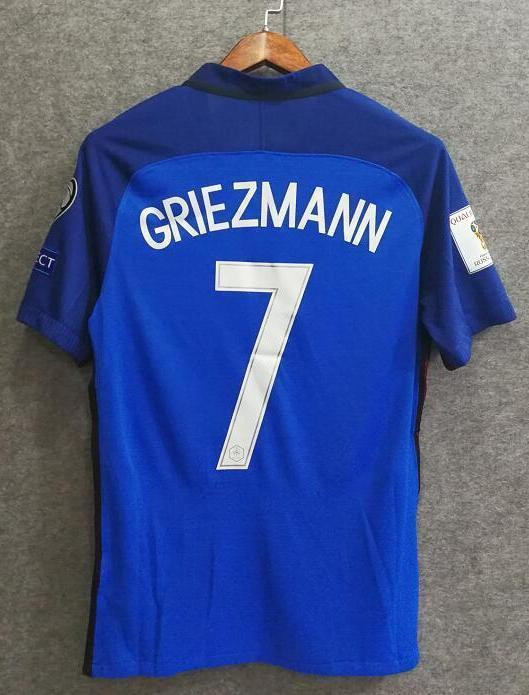 save off 0ebe5 10ae3 2018 Men France #7 Griezmann Jersey Home World Cup Jersey Player