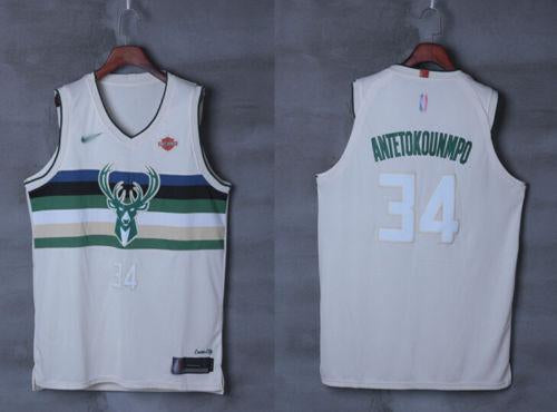 1d2f295fdfac ... switzerland men 34 giannis antetokounmpo city jersey white milwaukee  bucks player nrevo 78dec f4634