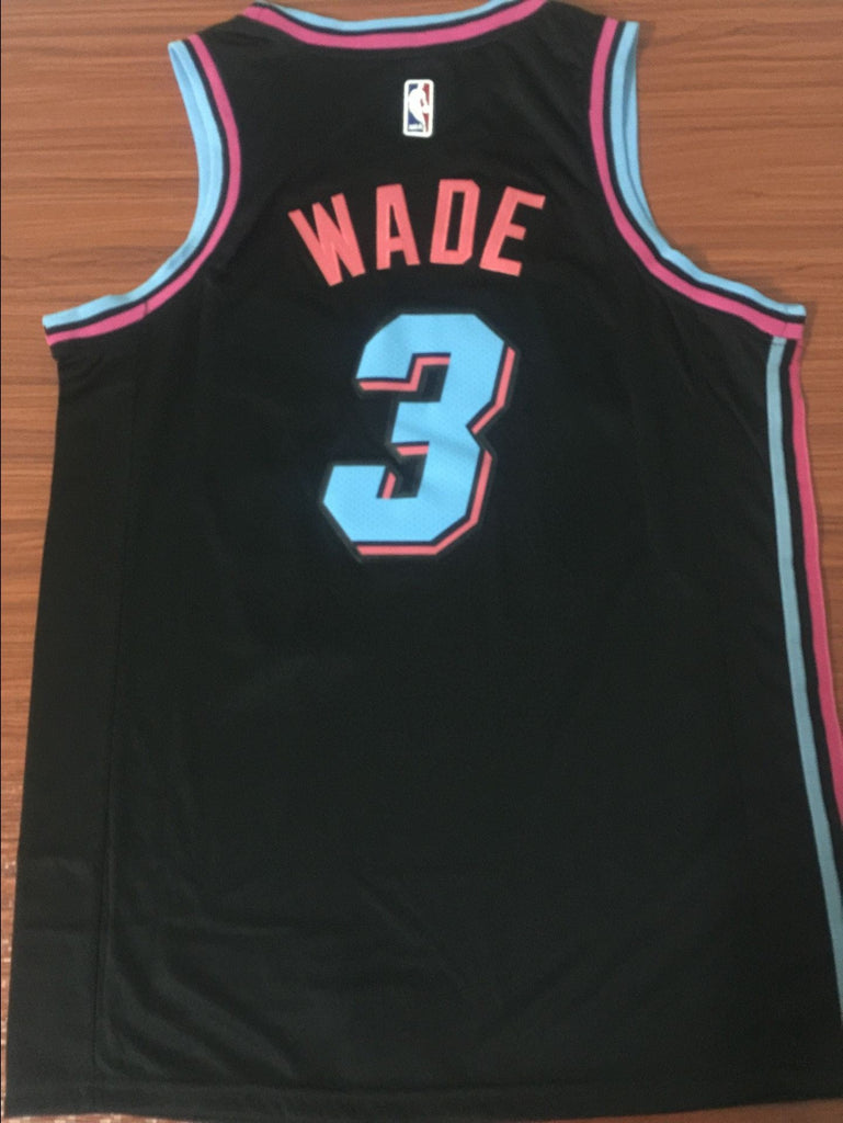 info for 0a473 9d72a Men 3 Dwyane Wade Jersey Black Miami Heat City Edition ...