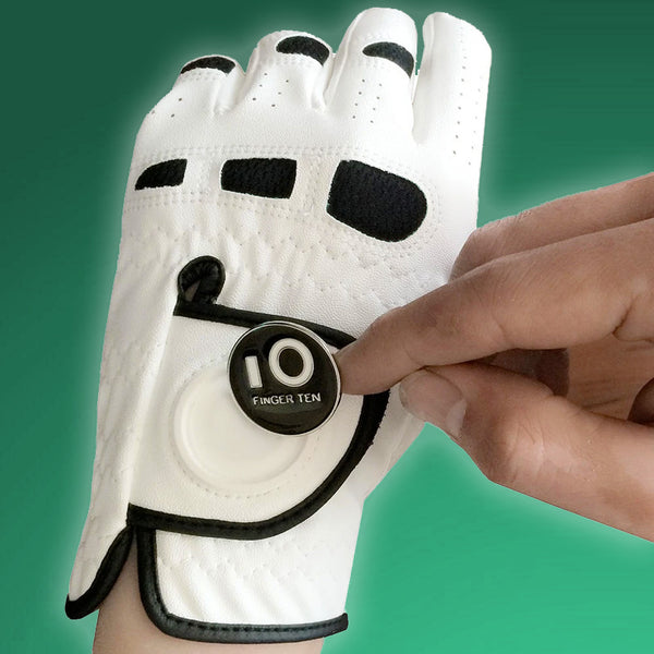 Men's Golf Glove with Magnetic Ball Marker