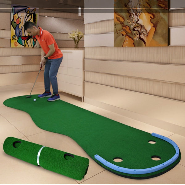 Large Indoor Putting Mat with Barrier
