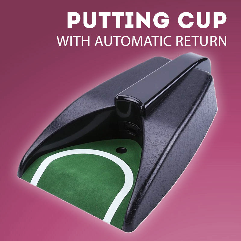 Putting Cup with Automatic Ball Return