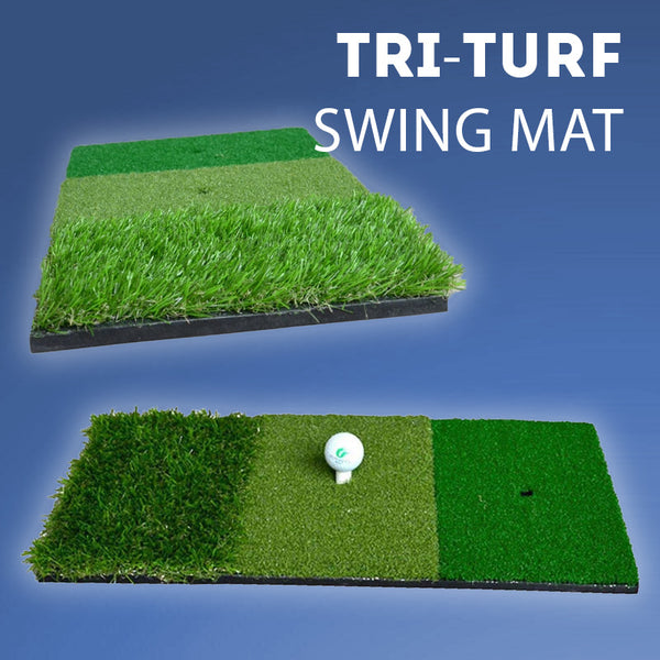 Portable Indoor Outdoor Tri-Turf Golf Mat