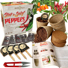 Load image into Gallery viewer, Hot N Spicy Peppers Growing Kit