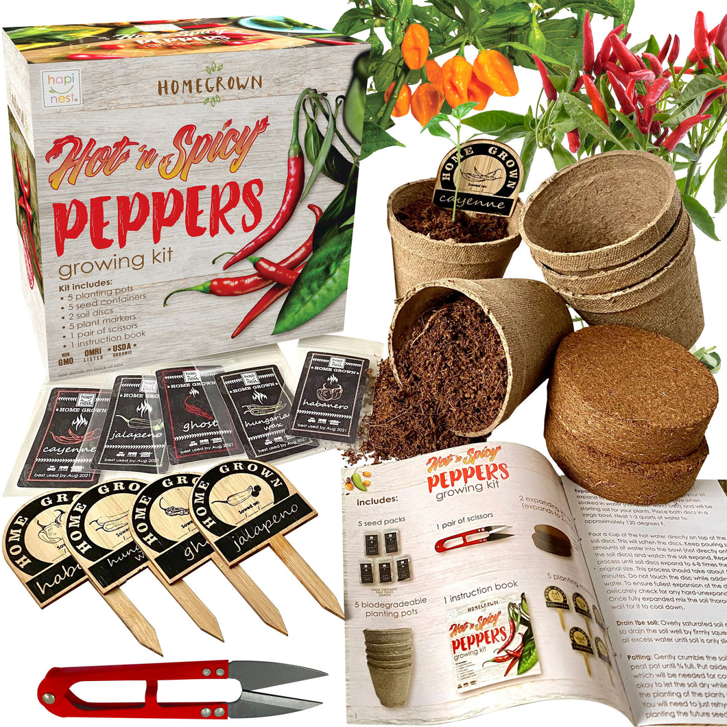 Hot N Spicy Peppers Growing Kit