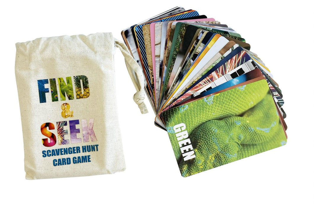 Find & Seek Scavenger Hunt Card Game
