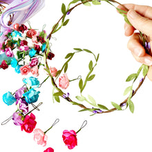 Load image into Gallery viewer, Make Your Own Flower Crown Headbands and Bracelets