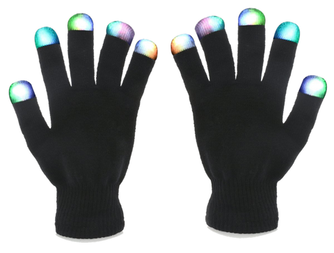 Image of 7-Mode Flashing LED Gloves