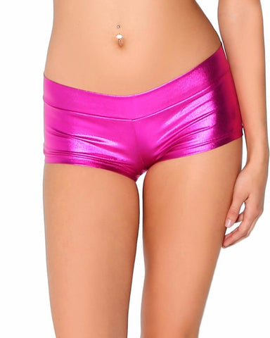 Image of Sexy Lycra Metallic Rave Booty Dance Shorts - 9 Styles