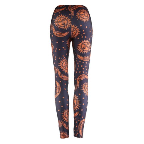 Rave Party Moon & Sun Dance Leggings