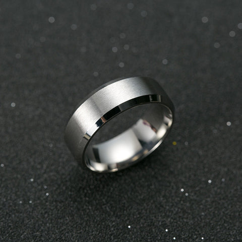 Men's Titanium, Gold, Silver Wedding Band