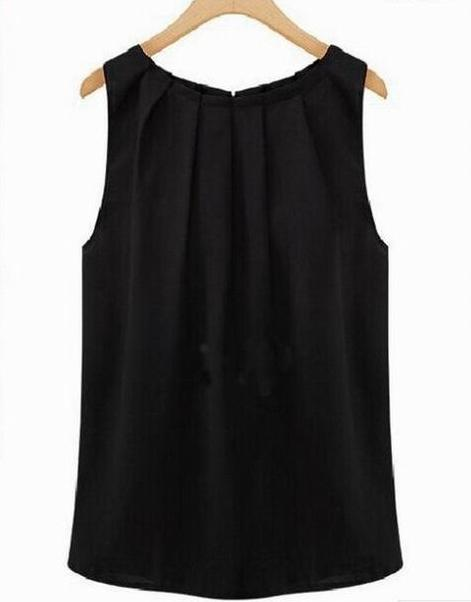 Sexy Chiffon Sleeveless Blouse