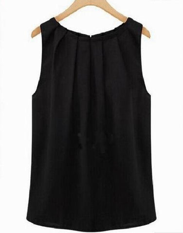 Image of Sexy Chiffon Sleeveless Blouse