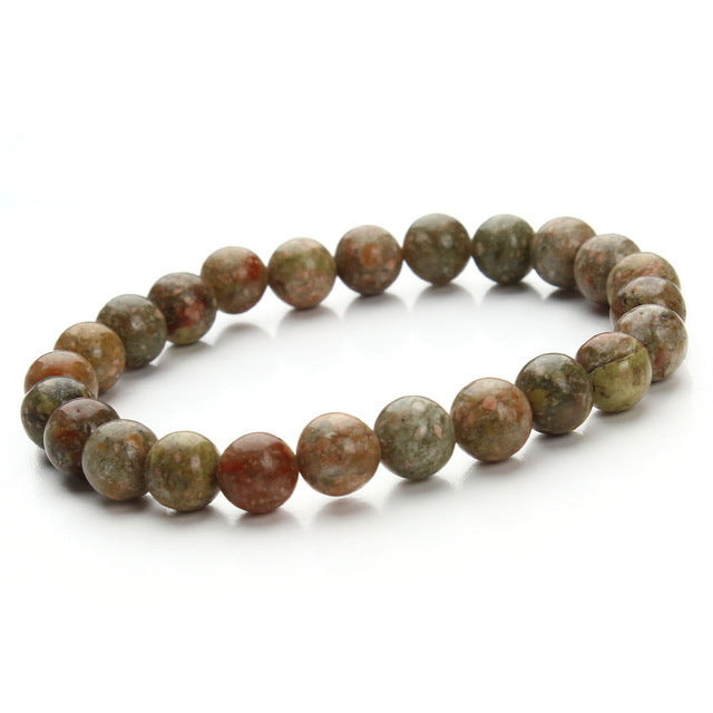 Natural Stone & Agate Beaded Bracelets
