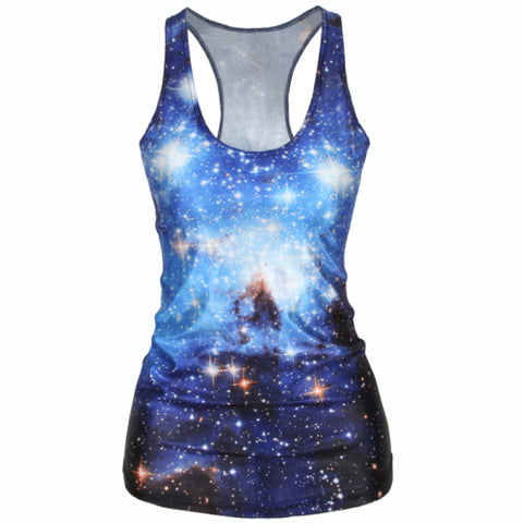 Image of Galaxy 3D Starry Tank Top