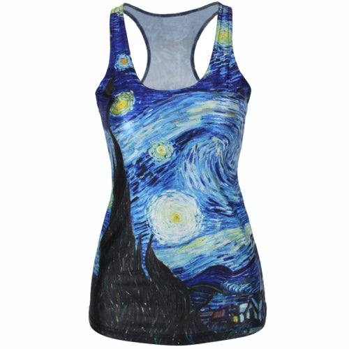 Galaxy 3D Starry Tank Top