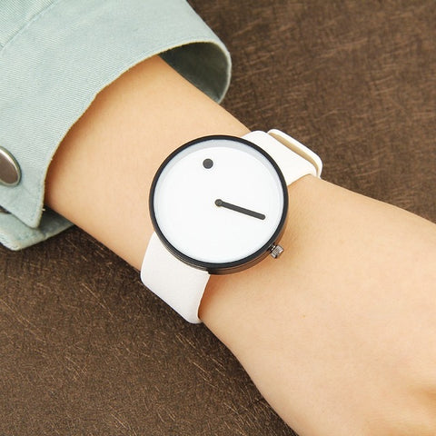 Image of BGG Stylish Black and White Unisex Wristwatch