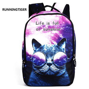 Space Cat 3D Backpack - 2 Styles