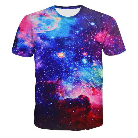 Image of Galaxy Space 3D Nebula T-shirt