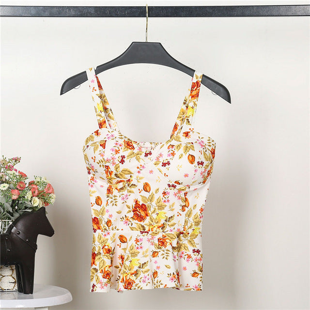 Floral Summer Women's Crop Top