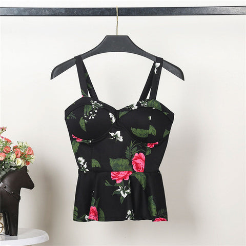 Image of Floral Summer Women's Crop Top