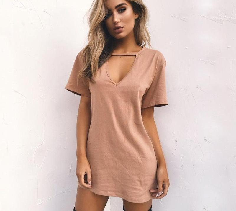 Women's V Neck Dress