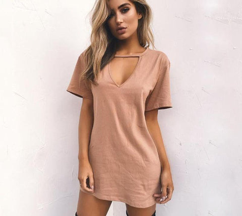 Image of Women's V Neck Dress