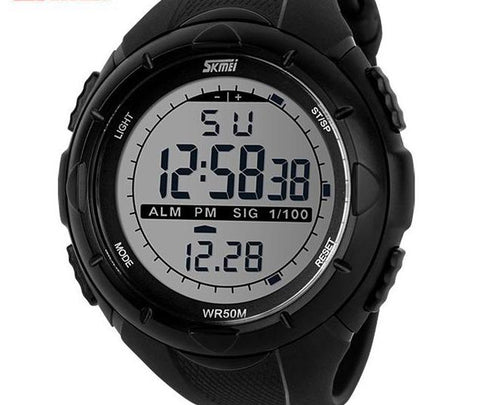 Men's LED Digital Military Dive Wristwatch