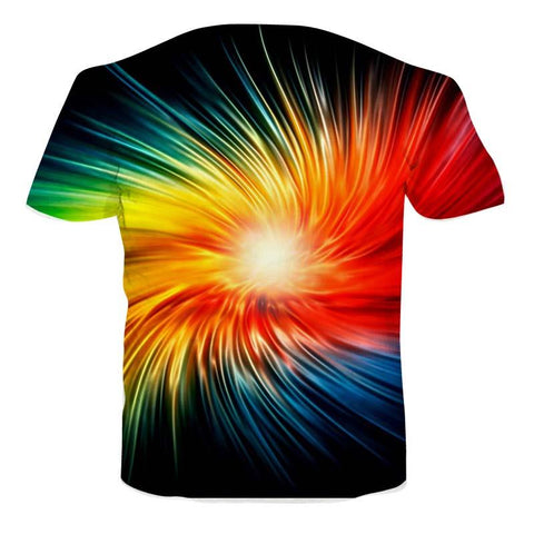 Image of Galaxy 3D Rainbow Sunburst T-shirt